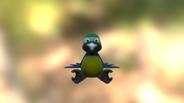 Pudgie! Parrot 3D Model