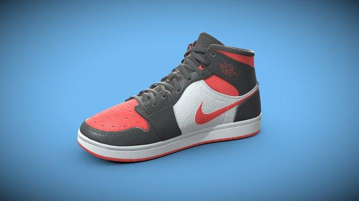Nike Air Shoe Model (PBR 4K Lowpoly model) 3D Model
