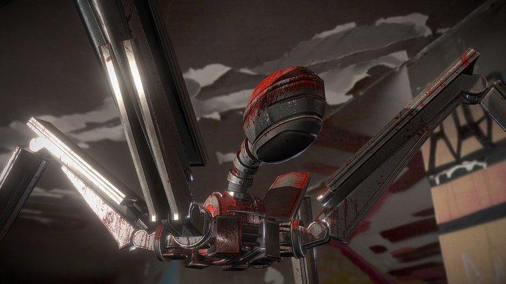 Gun Bot (Bloody Version) 3D Model