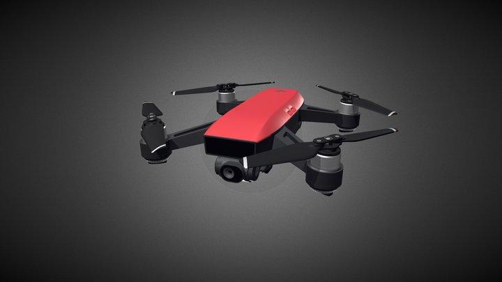 DJI Spark Drone for Element 3D 3D Model
