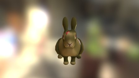Zombie Bunny 3D Model