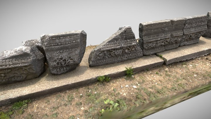 Ancient Greek Ruins from Philippi 3D Model
