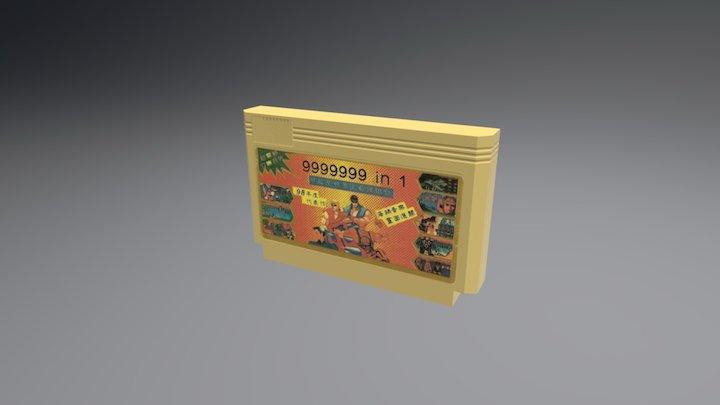 Famicom Cartridge 3D Model