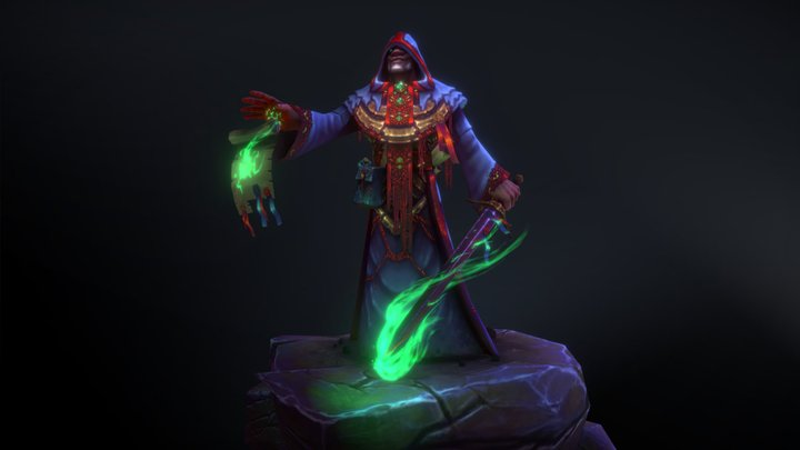 The Cultist - Hand Painted Character 3D Model