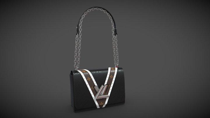 Louis Vuitton Bag Twist Epi Black with studs 3D Model