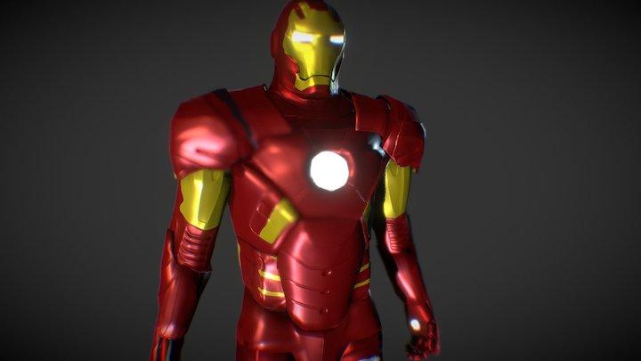 Low Poly Iron Man 3D Model