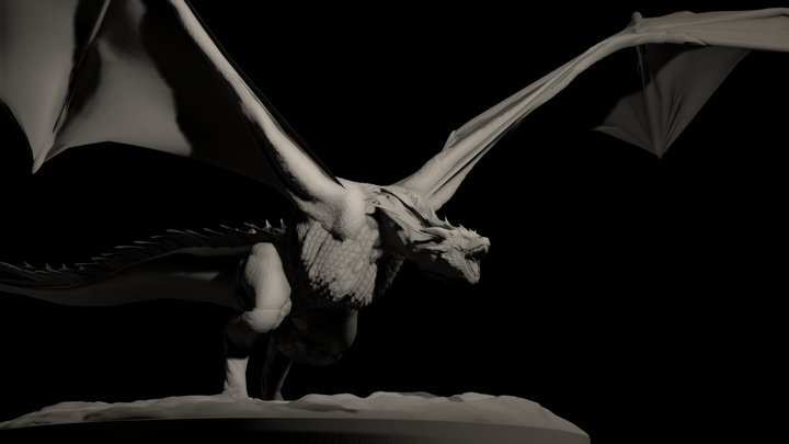Drogon Game of Thrones 3D Model