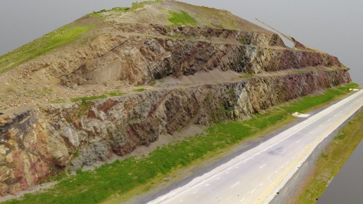 Spechty Kopf Diamictite/MTD site 3D Model