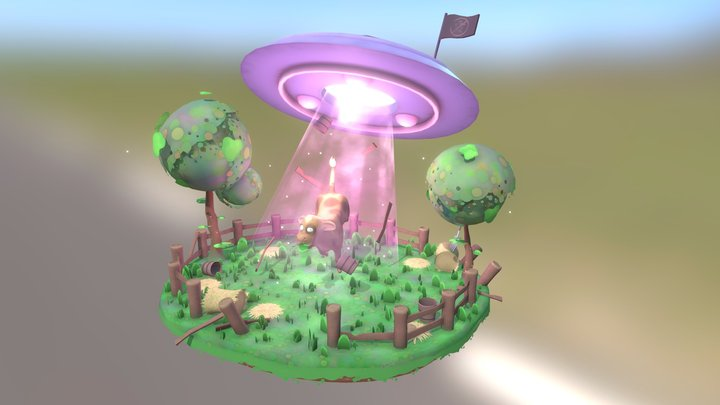 Cowpture by Night 3D Model