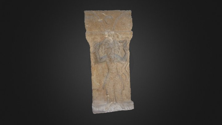 Incense Table with God Nirgul Relief 3D Model