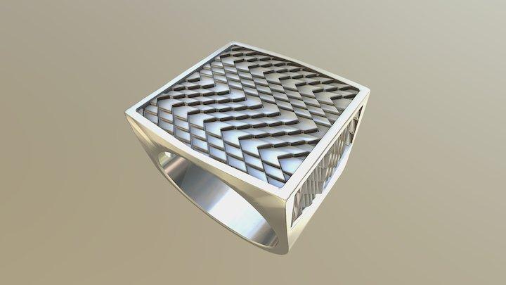 Men's ring fairness - western pattern 3D Model