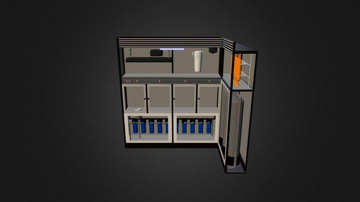 Depot Isi Ulang Air Minum 3D Model