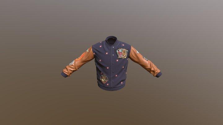 Hardcore Varsity Jacket 3D Model