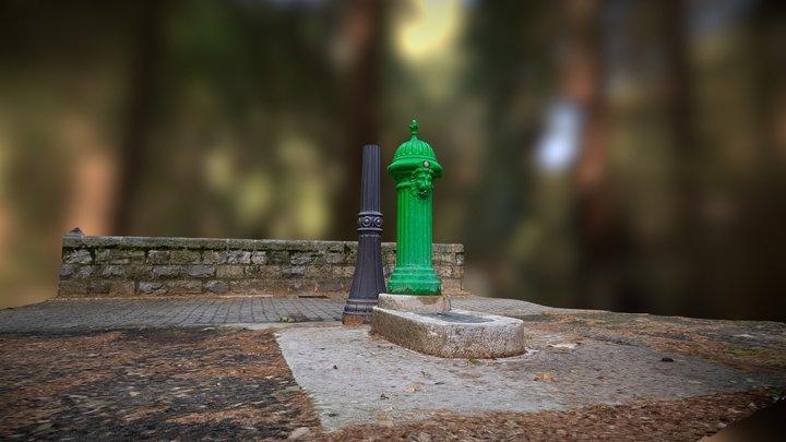 Lion fountain Pamplona / Iruña 3D Model