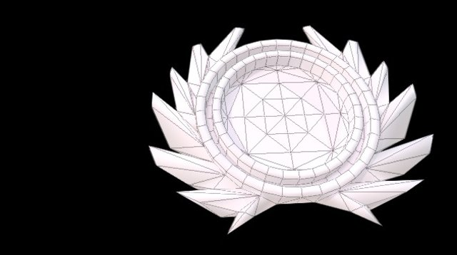 Circular Emblem with greek wreath 3D Model