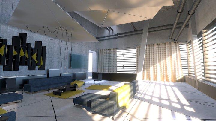 Mirror's Edge Apartment - Interior Scene 3D Model