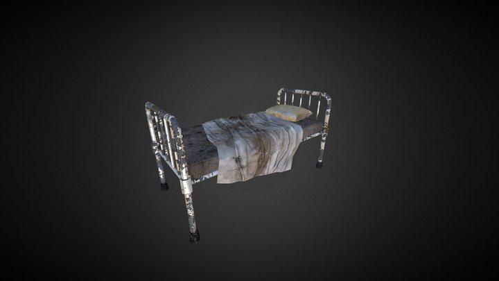 Old Hospital Bed 3D Model
