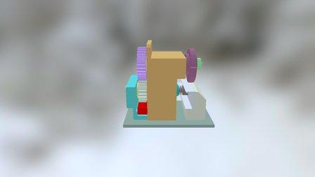 Mecanisme De Serrage (Sciage) 3D Model