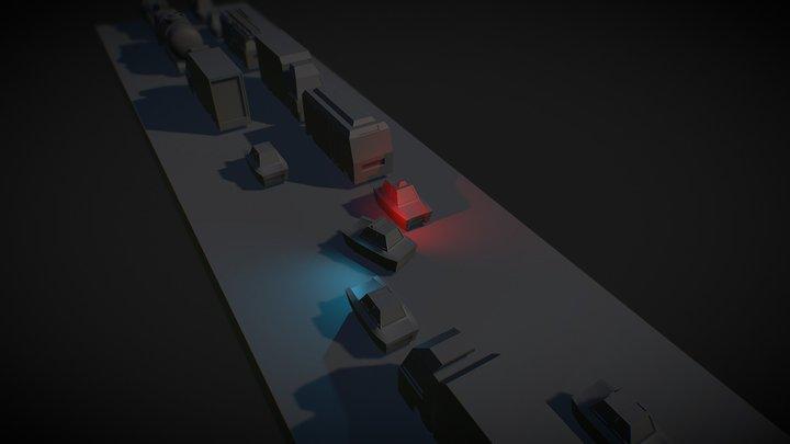 Road Traffic 3D Model