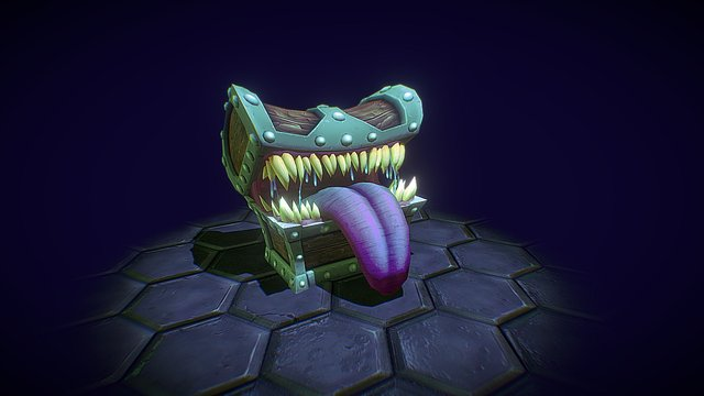 Mimic Treasure Chest 3D Model