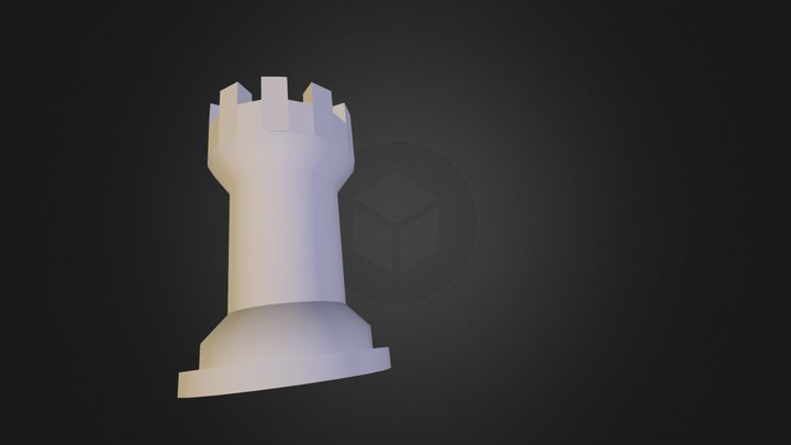 trä torn done 3D Model