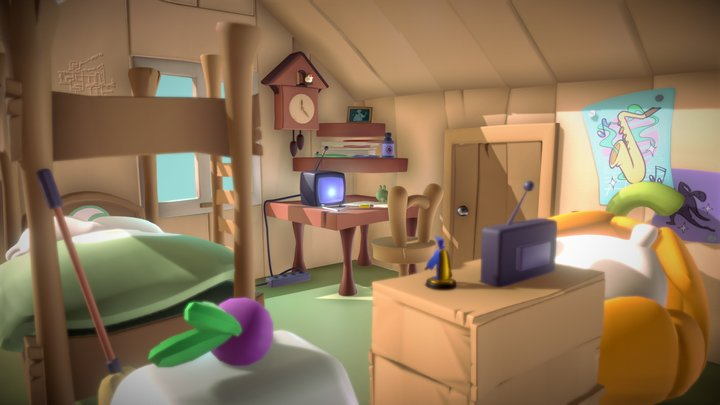 Jerry's Room 3D Model