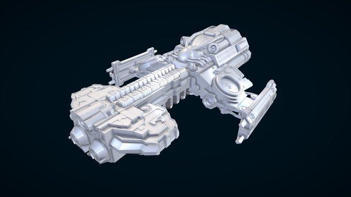 Starcraft - Battlecruiser Hyperion 3D Model
