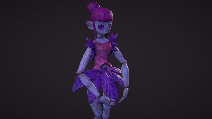 Ballerina puppet 3D Model