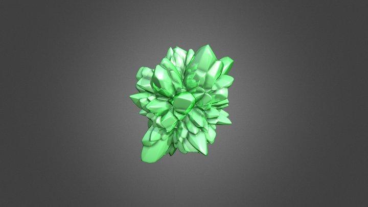 Vornoi displaced emerald 3D Model