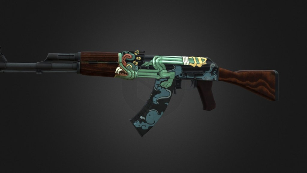 Ak 47 Fire Serpent 3d Model By Csgoitems Pro Csgoitems Pro 9812b90