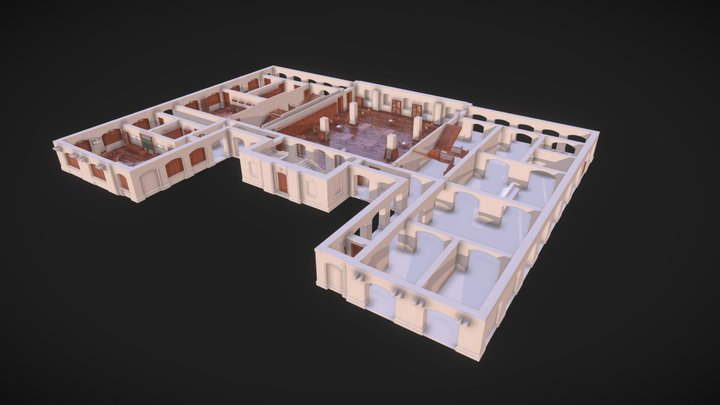 1939 Queen's College, HK Basement 荷李活道皇仁書院地庫 3D Model