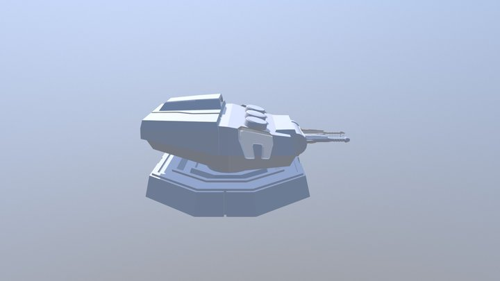 Heavy Turbolaser Cannon V3 3D Model