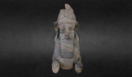 Man Bull Column Capital of Persepolis 3D Model