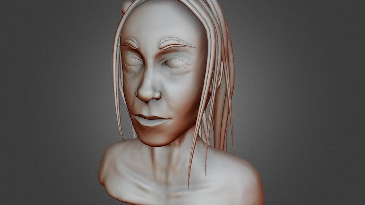 Female Face Sculpt Practice 3D Model