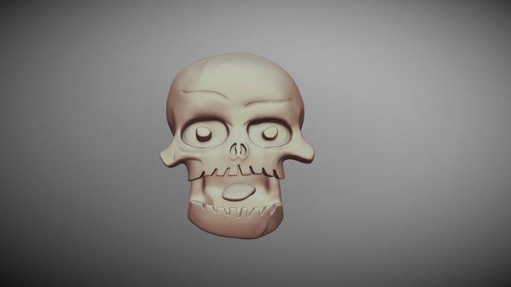 Skull Brasília Motor Point with Support 3D Model