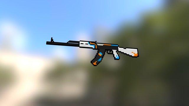 Block Strike - AK-47 3D Model