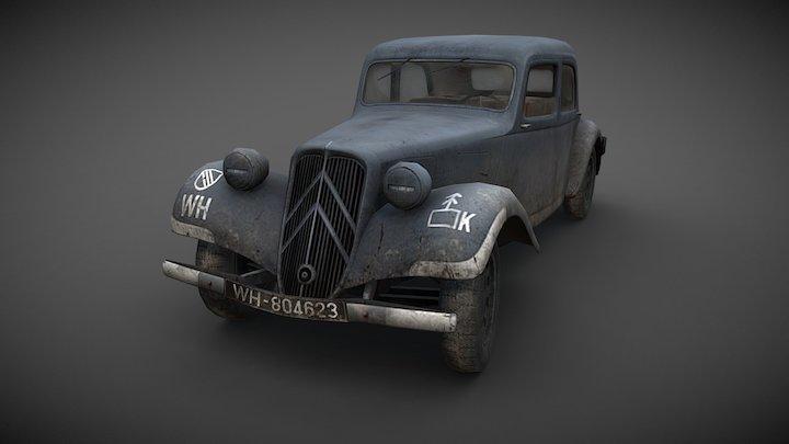 Citroën Traction Avant - German Army WWII 3D Model