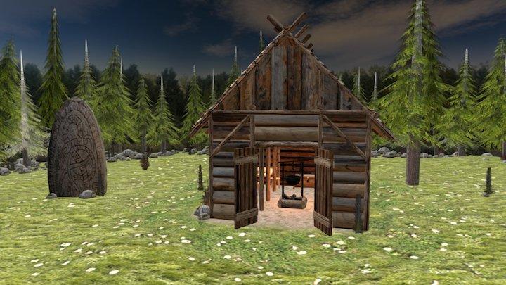 Little Viking Hut 3D Model