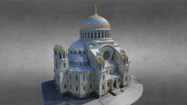 Naval Cathedral in Kronshtadt 3D Model