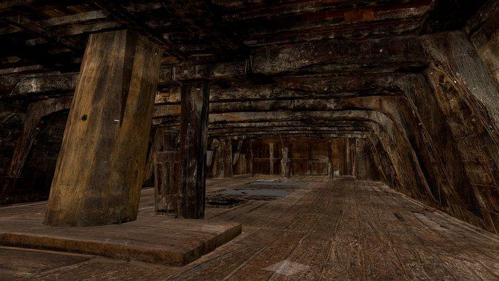 Vasa, the upper gun deck 3D Model