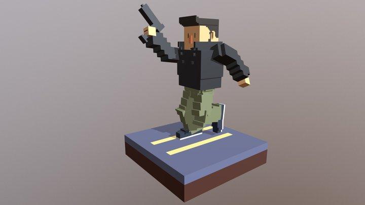 Voxel Claude Speed 3D Model