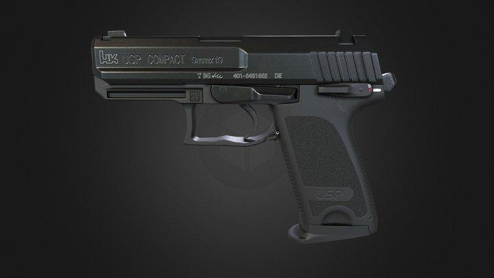 HK USP Pistol 3D Model
