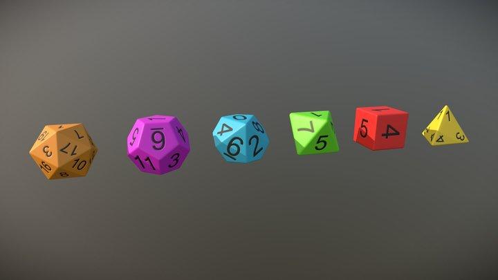 Simple RPG Dice 3D Model