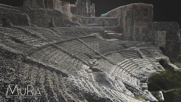 Roman Theater in Catania 3D Model