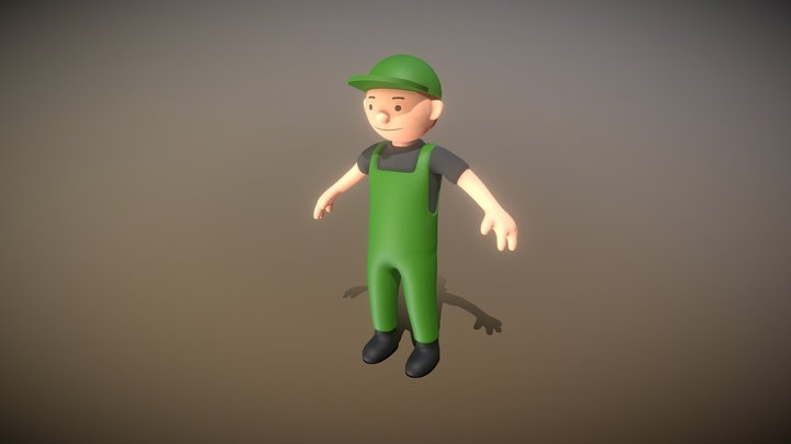 Gardener (High-Poly Version) 3D Model