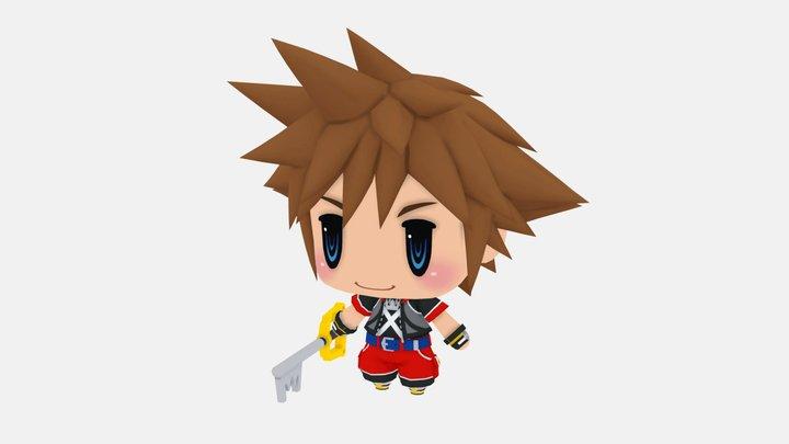 Chibi Sora from Kingdom Hearts 3D Model
