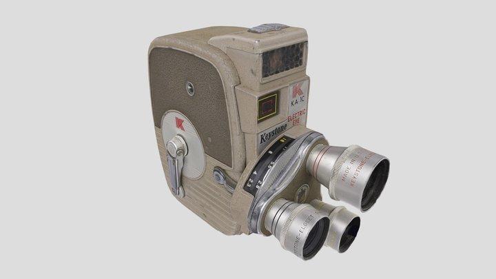 Keystone KA-1C Electric Eye 8mm Movie Camera 3D Model