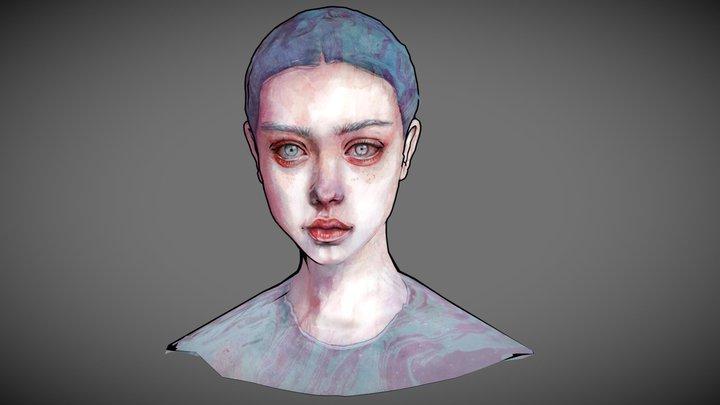 Sad girl 3D Model