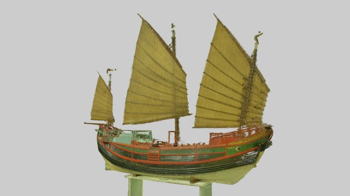 Chinese Junk Ship - Science Museum 3D Model