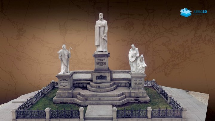 Monument to Princess Olga 3D Model